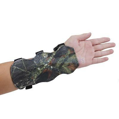 Outdoor Cow Leather Shooting Archery Arm Guard Bow Protective Safty Gear Camo