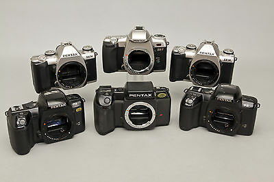 Lot of Six (6) Pentax 35mm SLR Film Camera Bodies for Parts or Repair