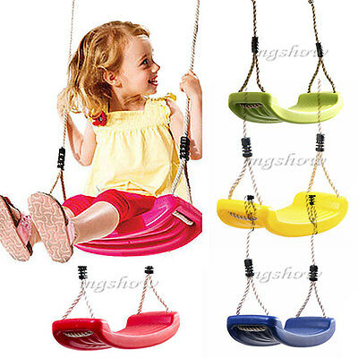 Children's Outdoor Swing Adjustable Ropes Climbing Toddler Garden Safety Seat