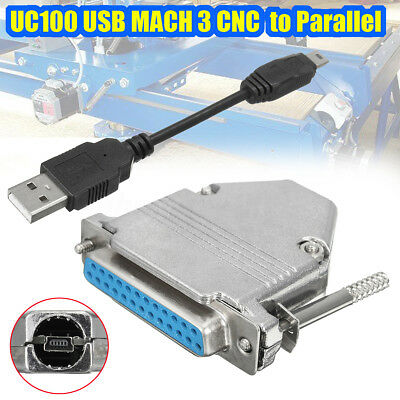 For Mach3 Controller USB to Paralle UC100 CNC USB Controller USB to Parallel New