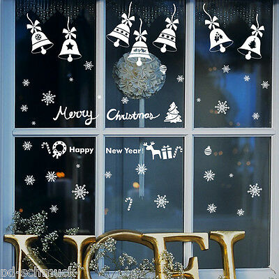 Wandtattoo Fenstertattoo Glasdekor Aufkleber Weihnachten Happy Nee Year M17281