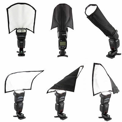 AU Foldable Flash Diffuser Reflector Snoot Softbox For Canon Yongnuo Speedlight