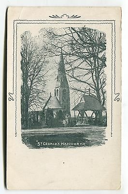 Hanworth, Middlesex - St George's Church - 1906 used postcard