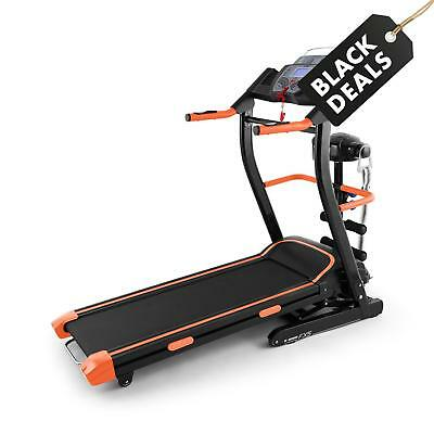 Tapis Course Klarfit Pacemaker FX5 Running Cardio Training Massage Noir/orange