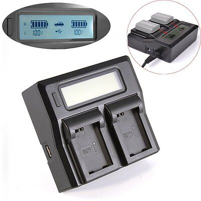 AU LCD Dual Channel Battery Charger For Sony NP-FW50 NEX A6000 A7R SLT A33 A35