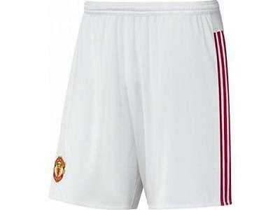 Adidas Manchester Utd FC Boys Shorts Junior Man Utd Home Shorts White 7-16 Years