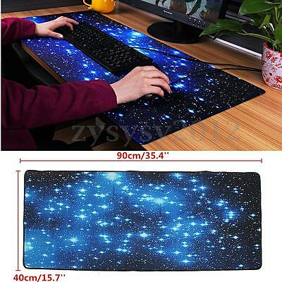 35.4'' x 15.7'' Large Galaxy Gaming Mouse Pad Keyboard Mat Office Desk Mousepad
