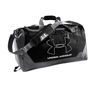UNDER ARMOUR hustle storm MD duffel [black/graphite/white]-Regular