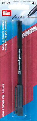 Prym Permanent Fabric Marker pen black Prym 1pc