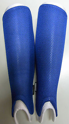 Zoppo Hockey Shinguards Protection Shin Pads (Blue/White)