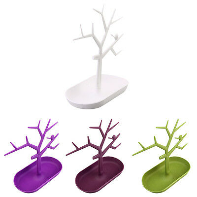Jewelry Necklace Ring Earring Tree Stand Display Organizer Holder Rack UR