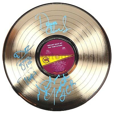 "The Temptations - Classic Motown Group - Authentic Autographed 12"" Gold Record"