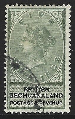 BECHUANALAND 1888 5/- green & black, used w/ superb orig colour, SG#18