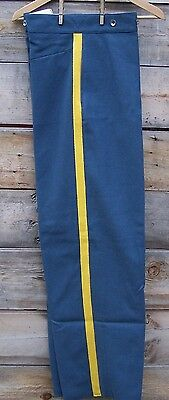 civil war light blue trousers with 1 inch yellow stripe  38