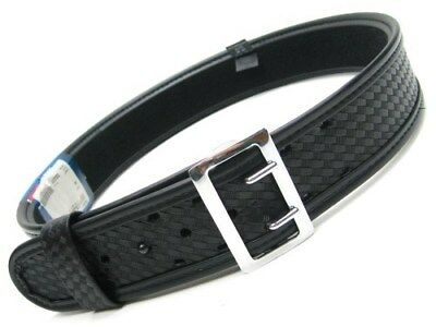 "BIANCHI 38""-40"" Waist 7960 Basketweave SAM BROWNE Duty Belt w/ Chrome Buckle!"