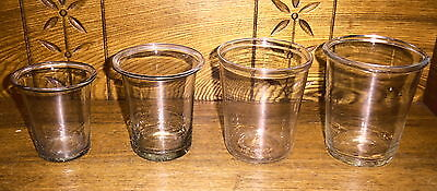 4 Vintage Blown Glass Containers Various Sizes