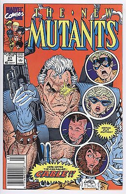 New Mutants Comic #87 (1990) FN/VF Marvel 1st Appearance CABLE First Print