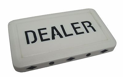 (1) Dealer Tile Button Texas Holdem Poker - Free Shipping  *
