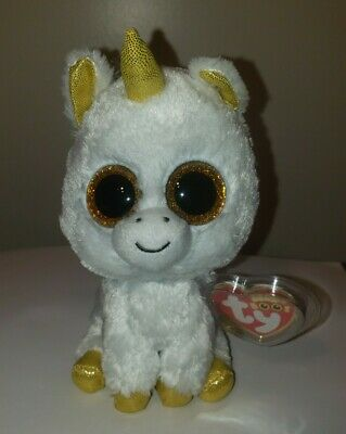 "Ty Beanie Boos - PEGASUS the 6"" Unicorn ~ Claires Exclusive Tag Version ~ NEW"