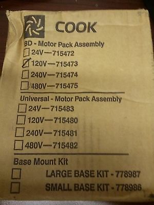 NEW IN BOX COOK 120V-715473 BD Motor Pack Assembly NEW Old stock