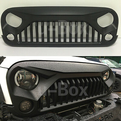 Matte Black Angry Bird Upgrades Grill Grille Insert For 07-16 Jeep JK Wrangler