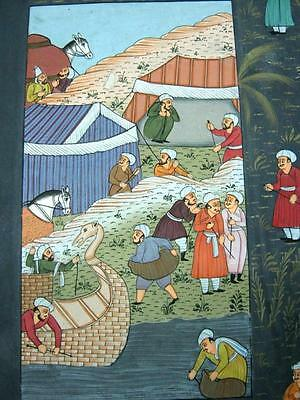 Indian Miniature Painting Of  Travelling Traders