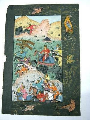 Indian Miniature Painting Of Warriors