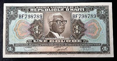 HAITI: 1919 10th Issue 1 Gourde Banknote *XF*- P-200 - FREE COMBINED S/H