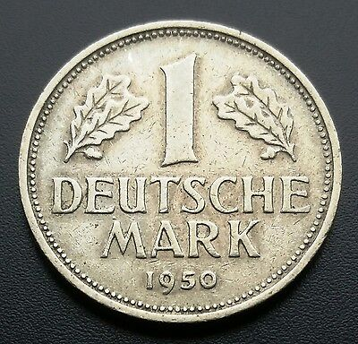 1950-D Germany 1 Mark Coin **great Condition** B14D435