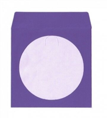 1000 Purple Color Paper CD Sleeves with Window & Flap
