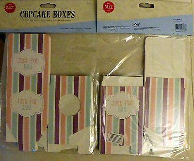12 New Single Cupcake Boxes -Just For You Free UK P&P