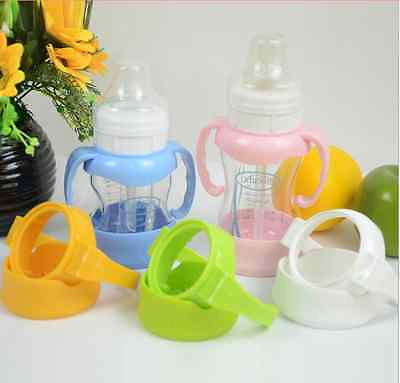 Baby Newborn Handles Holder Trainer Easy Grip + Base For NUK Wide Mouth Bottle