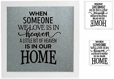 Vinyl Sticker for DIY Box Frame  WHEN SOMEONE WE LOVE IS IN HEAVEN memorial