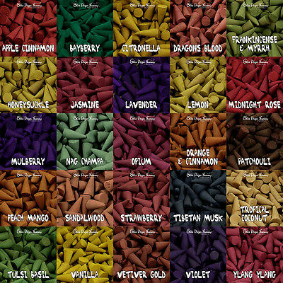 26 AROMA!!! Box Pack of 25 Incense Cones Mixed Scents Nap Champa Sandalwood