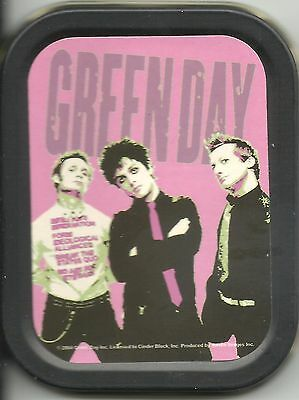 GREEN DAY pink 2004 oblong MINI STASH TIN usa IMPORT official - no longer made