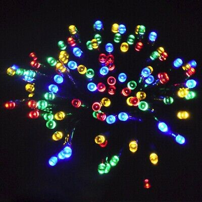 SAFE Low Voltage Multi Colour Christmas Fairy Lights 20M+10M 200 LED Outdoor