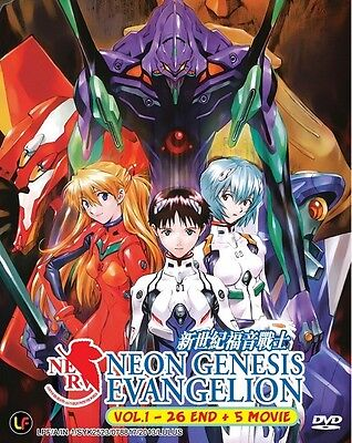 NEON GENESIS EVANGELION Box | TV+5 Movies | Eps. 01-26+5 | 6 DVDs (M1886)-LU