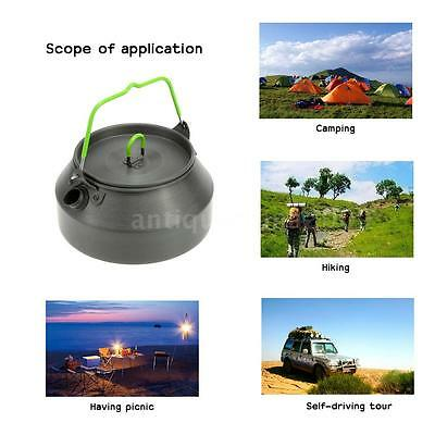 Portable Picnic Water Kettle Outdoor Hiking Camping TraveTeapot Coffee Pot H6X6