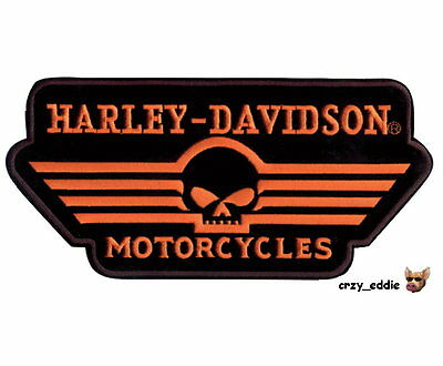 Harley Davidson Linear Skull Vest * 2Xl *patch Winged Willie G Obsolete Design