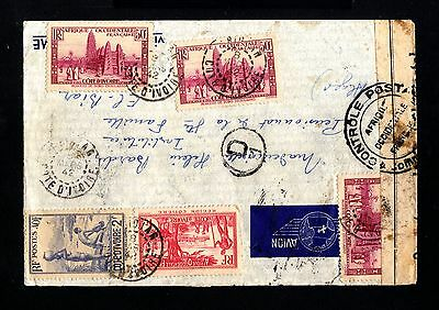 13591-R.COTE D´IVOIRE-AIRMAIL CENSOR COVER ABIDJAN to ALGER(algeria)1942.FRENCH