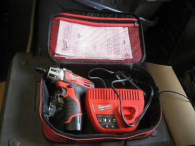 Milwaukee 12V Li-Ion Compact Driver 2401-20 w/ Battery Charger and Case