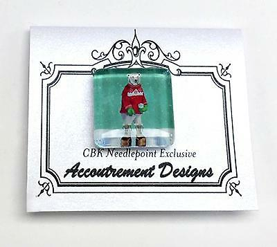 Magnet Glass Bear in Boots Needle Holder for Needlepoint & Sewing S.Church