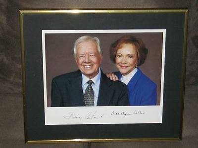 Jimmy Carter & First Lady Rosalynn 8X10 Color Photo Signed Professionally Framed