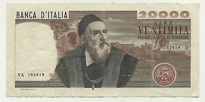 Italy 20000 Lire 21-2-1975 Pick 104 VF+ Circulated Banknote