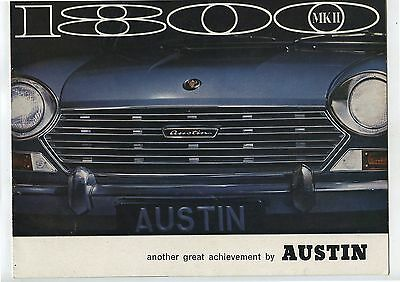 Old 1960's BMC Austin 1800 MKII Car automobile Advertising Brochure