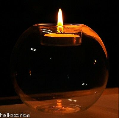 Christmas Heat-resisting Tealight Holder Glass Globe Candle Holder Candlestick