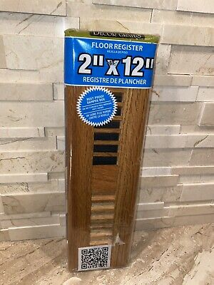 "Decor Grates Solid Oak Medium Wl212-M Floor Register 2"" X 12"""