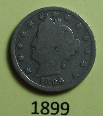 1899  US  Liberty Head ( V ) nickel in  circulated  condition    Free Shipping
