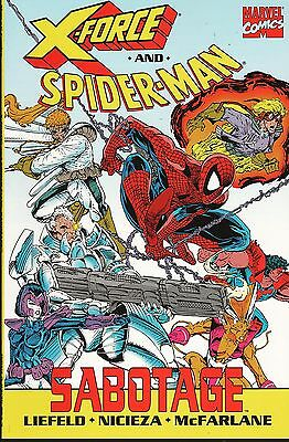 X-Force and Spider-Man: Sabotage / US TPB / Rob Liefeld & Todd McFarlane