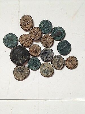 LARGER SEMI CLEANED ROMAN COINS VERY HARD TO GET, EVERY bid is per coin !!